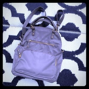 Handbags - Convertible nylon and faux leather backpack